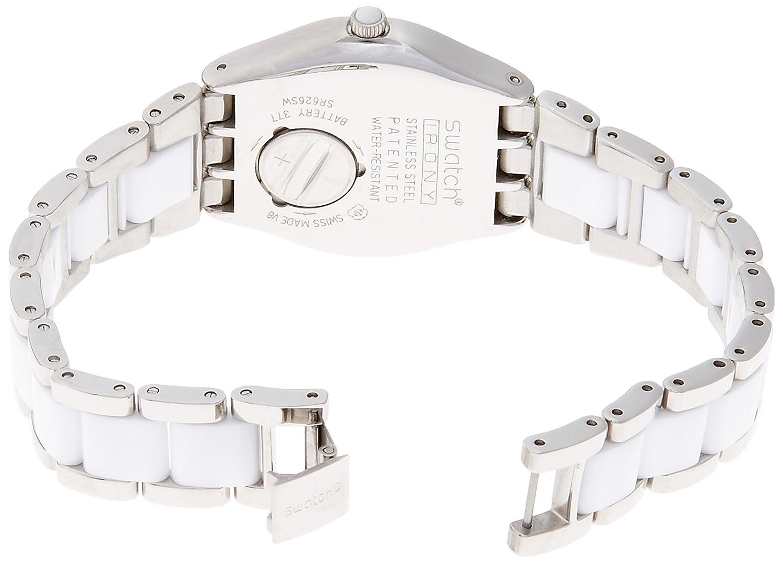 Amazon.com: Swatch Tresor Blanc Ceramic Ladies Watch YLS141GC: Swatch: Watches