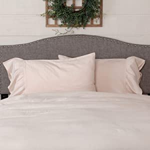 Piper Classics Annabelle Blush Ruffled Pillow Shams, Set of 2 Pillow Cases, Fit Standard Bed Pillows, Light Pink, Soft & Draping, Farmhouse Style Bedroom Décor