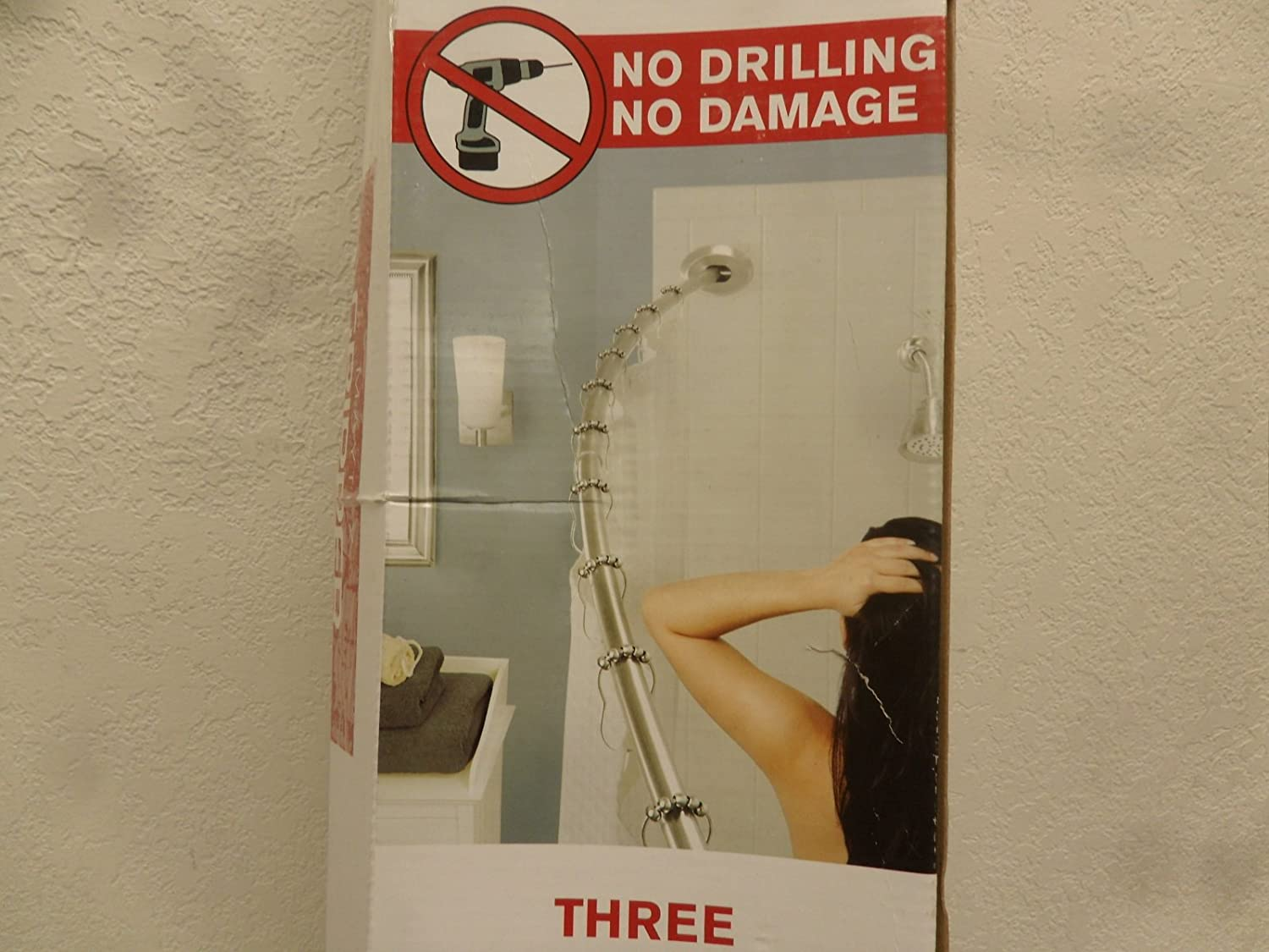 Amazon.com: Maytex Gripper Adjustable Curved Shower Rod: Home ...