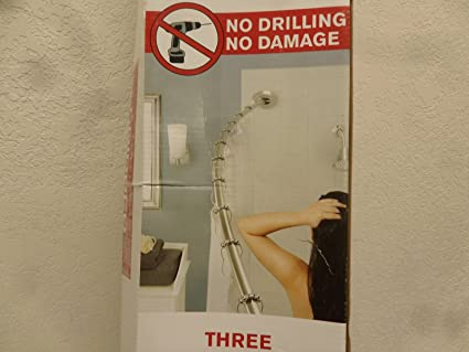 Amazon.com: Maytex Gripper Adjustable Curved Shower Rod: Home & Kitchen