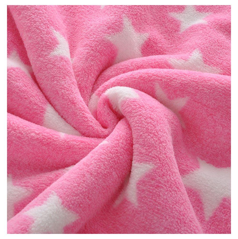 Baby Plush Blanket Toddler Blanket Double Layer Star Print Sherpa Coral Fleece 30x40 INCH (grey) Ltd.
