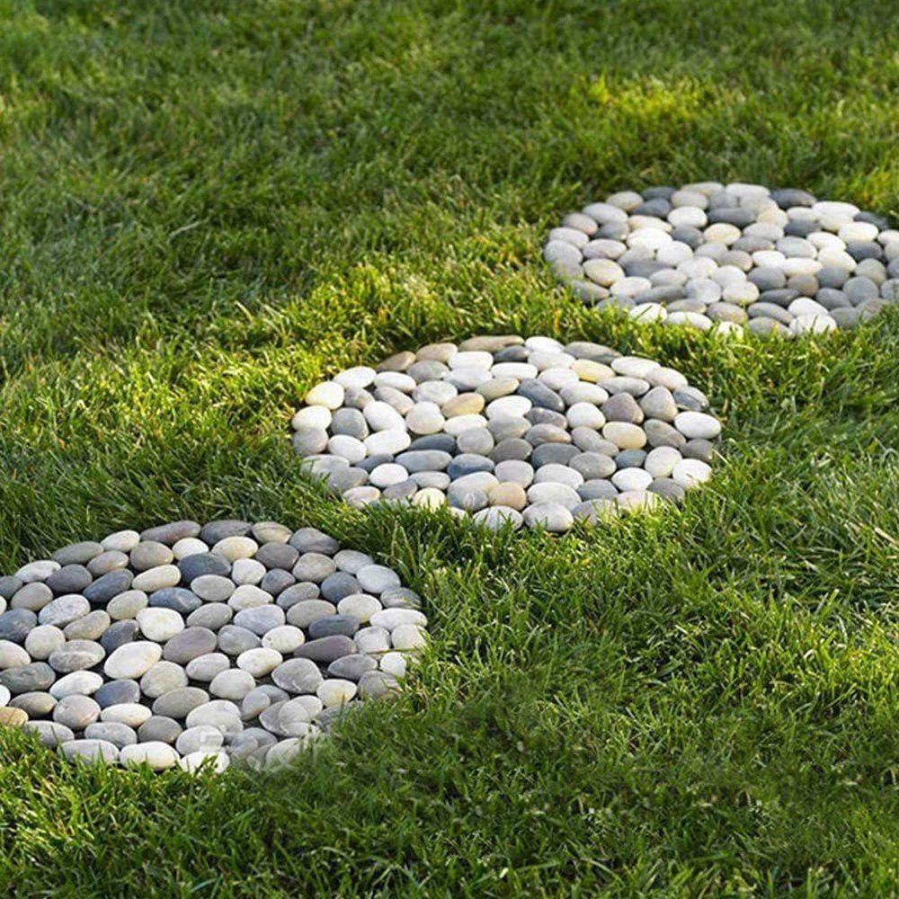 A Walk Maker MOGOI DIY Walk Maker Reusable Concrete Path Maker Molds Stepping Stone Paver Lawn Patio Yard Garden DIY Walkway Pavement Paving Mould