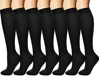 Arteesol 7 paires Chaussettes de Compression Sportive pour Hommes et Femmes