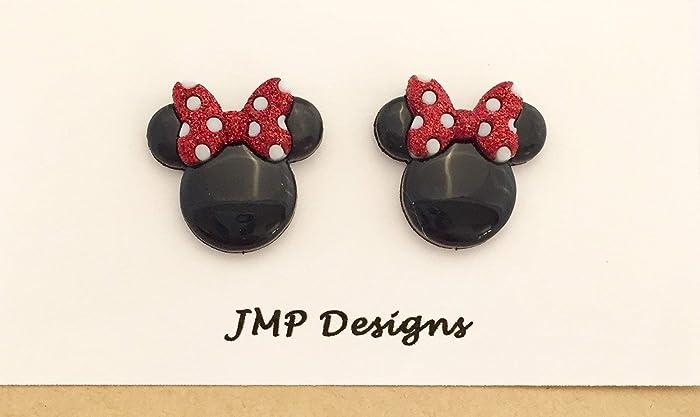 02ad7c40baf6e MINNIE MOUSE Stud Earrings. Disney Bound Inspired. Disneyland. Pierced  Earrings