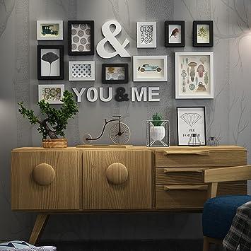 wadse kiefer holz bilderrahmen bilderrahmen kombination hintergrund wand foto wand fur wohnzimmer mit bildern