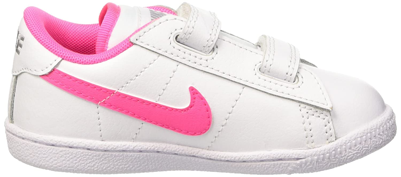 27c9571ad6 Nike Girls' Tennis Classic (TDV) First Walking Shoes Multicolour Bianco/Rosa/Grigio  (White/Pink Pow-Wolf Grey): Amazon.co.uk: Shoes & Bags