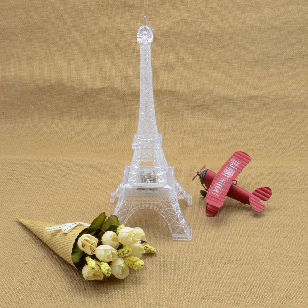 10 Inch LED Light Up Eiffel Tower, Built-in Color Changing Night ...