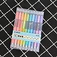 Doraking 10PCS Assorted Colors Soft Head Brush Erasable Fineliner Watercolor Marker Pens (10pcs Erasable)