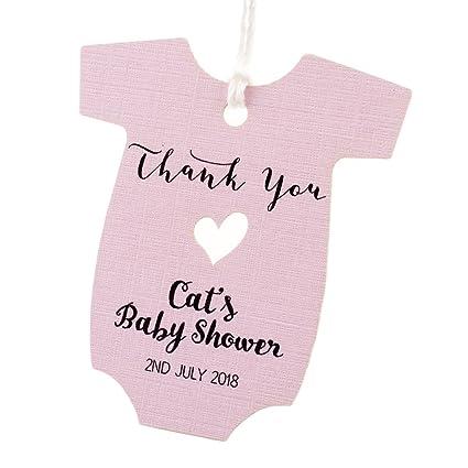 Amazon.com: summer-ray 50pcs personalizado rosa bebé Onesie ...