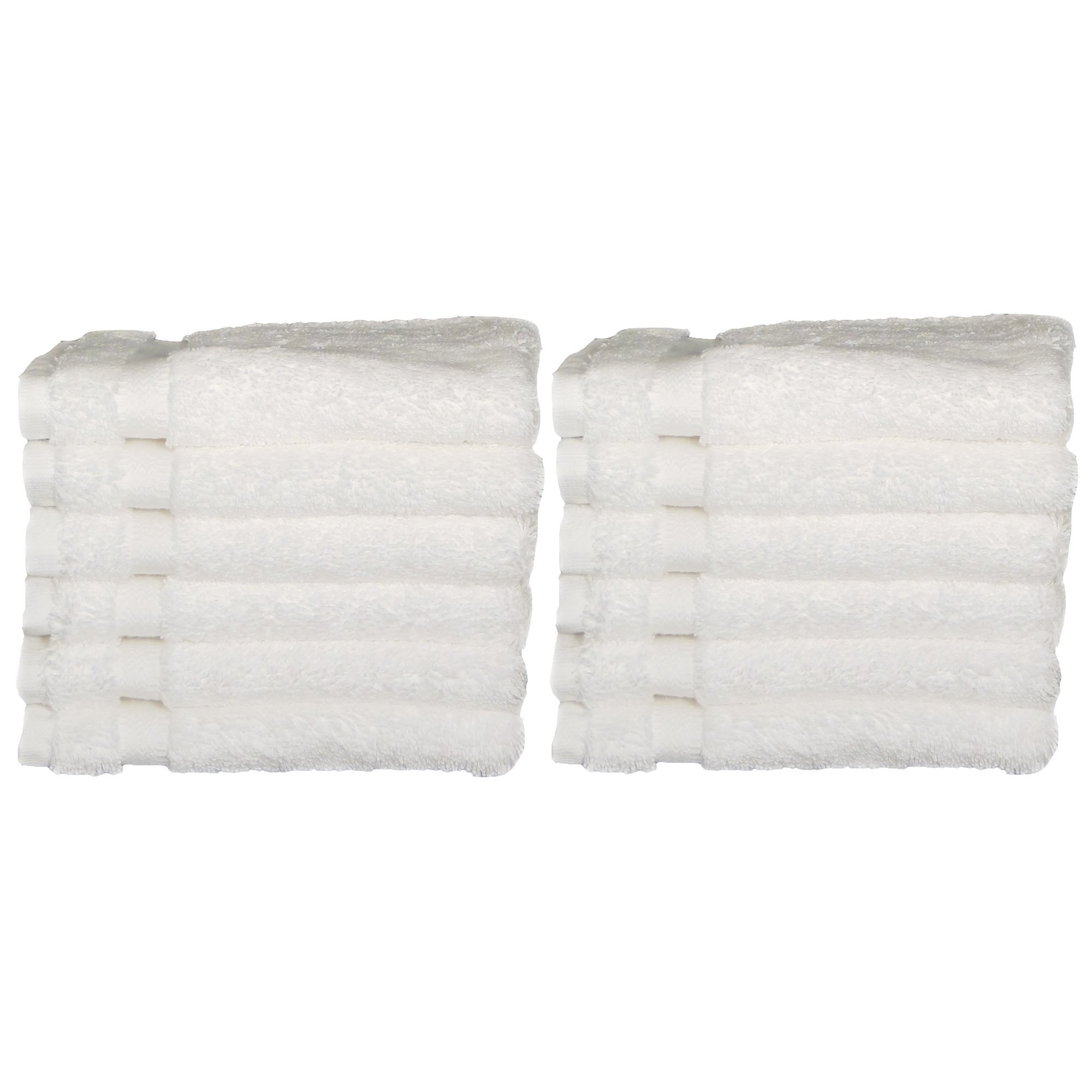 Chelsea Collection by Baltic Linen 100-Percent Turkish Cotton 12-Pack Wash Cloths, 13 by 13-Inch, White