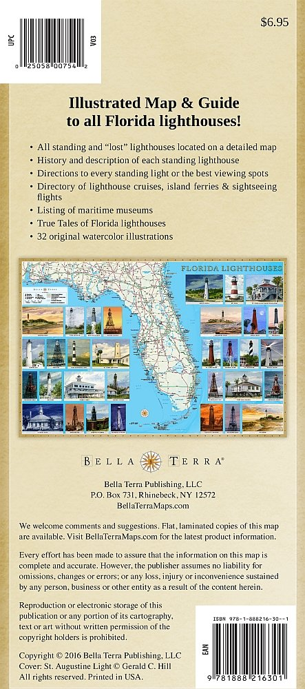 Florida Lighthouses Ilrated Map Guide Bella Stander Gerald C Hill 9781888216301 Amazon Com Books