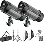 Neewer Photo Studio Strobe Flash Light and Softbox Lighting Kit:(2)300W Monolight