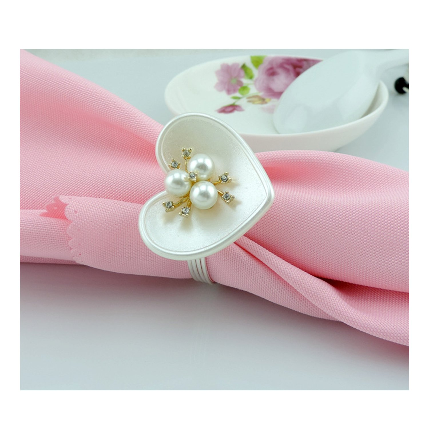 Amazon.com: Napkin Rings Holder for Weddings, Dinners, Parties ...