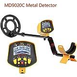Dailyinshop Detector de Metales subterráneo Profesional MD9020C Security Display de Alta sensibilidad LCD Treasure Gold Hunter