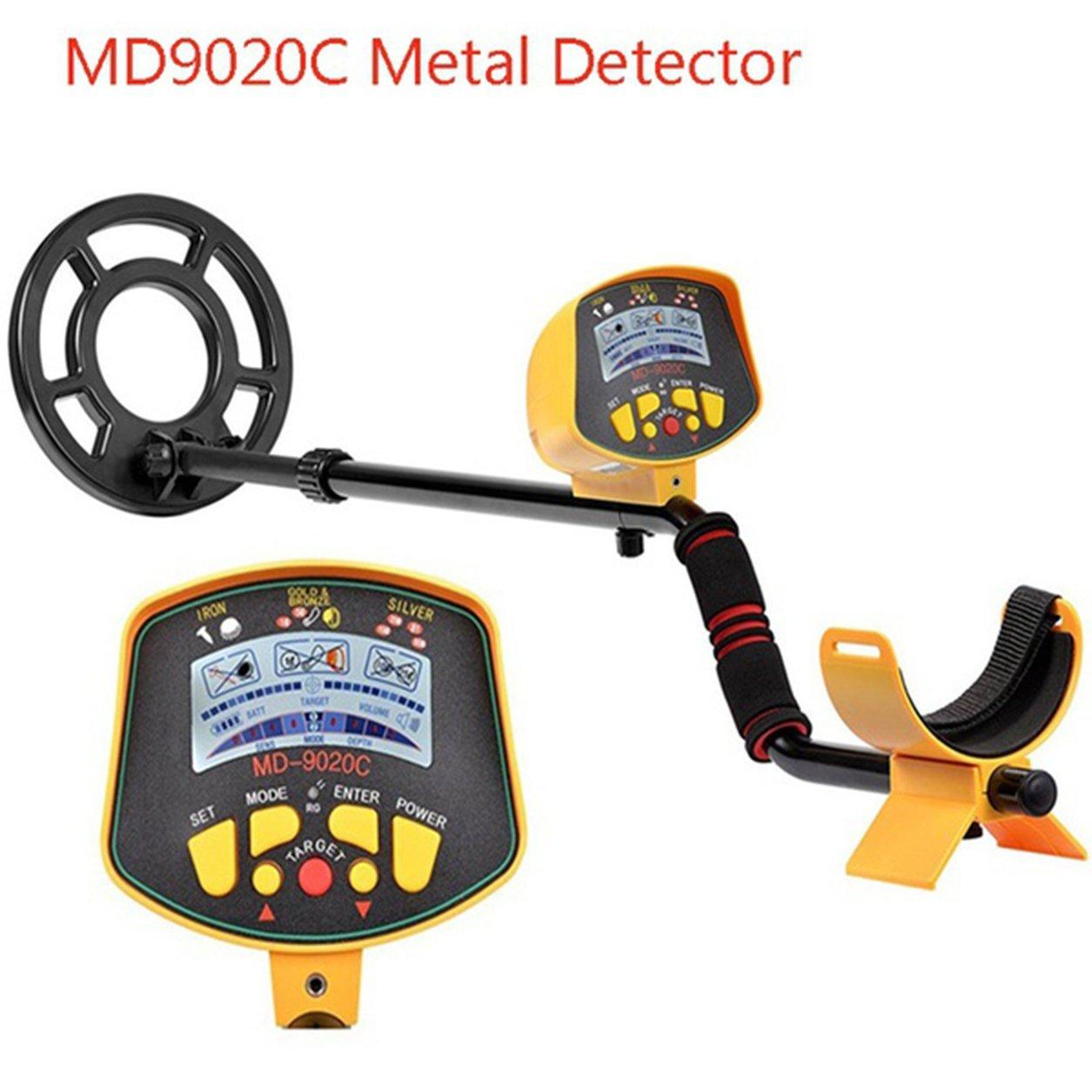 Dailyinshop Detector de Metales subterráneo Profesional MD9020C Security Display de Alta sensibilidad LCD Treasure Gold Hunter Finder Scanner (Color: ...