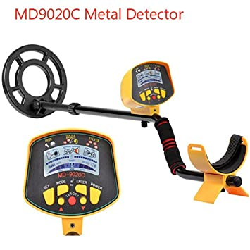 Dailyinshop Detector de Metales subterráneo Profesional MD9020C Security Display de Alta sensibilidad LCD Treasure Gold Hunter