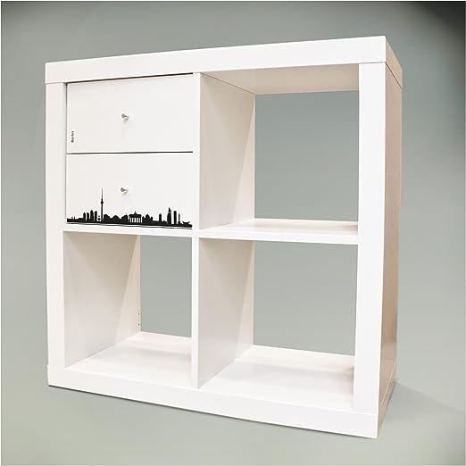 Adhesivos decorativos para muebles caja plegable para mueble IKEA EXPEDIT (Kallax) estantería 32,6 x 32,6 cm con diseño: diseño de Berlín: Amazon.es: Hogar