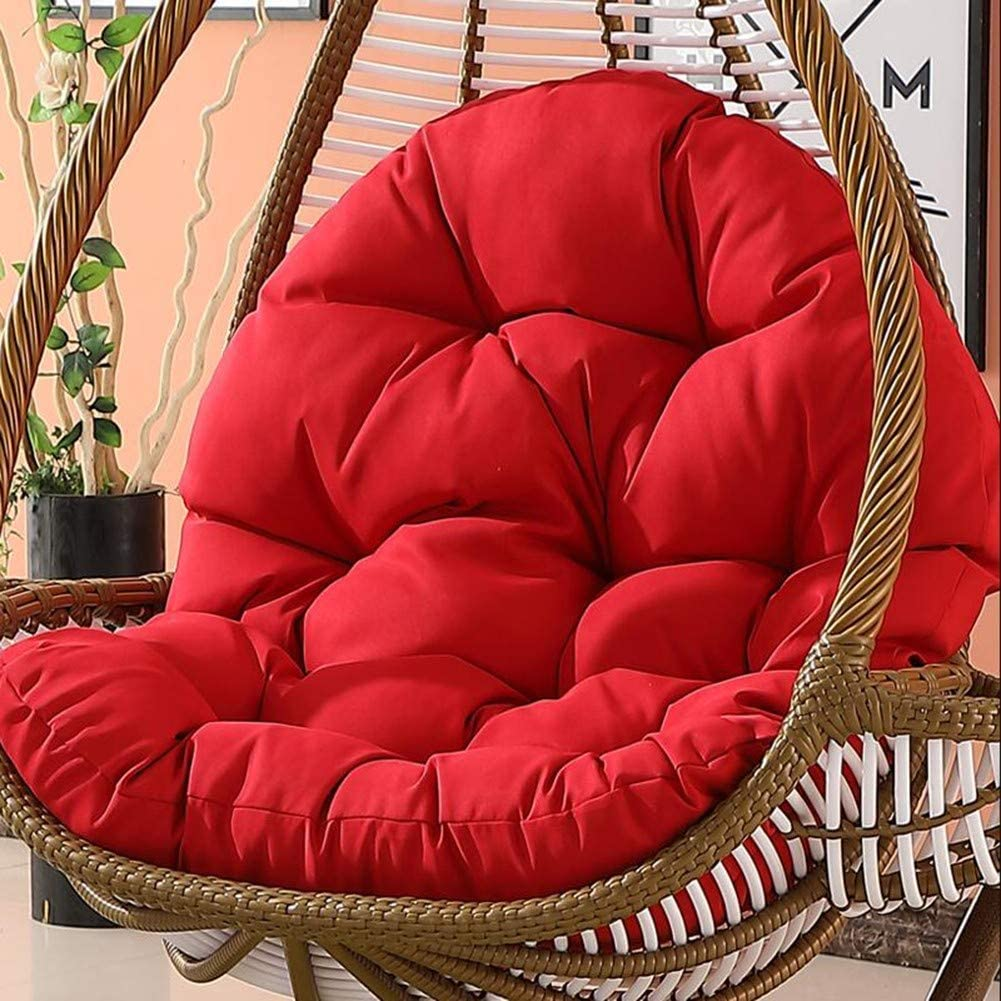 LYHY Cojín de Asiento abatible para sofá Nido Grueso Colchoneta de Silla Hamaca de Huevo Lavable Impermeable Lavable sin Soporte Rojo (Solo cojín)