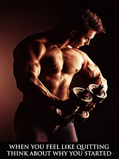 Amazon workout poster fitness poster bodybuilding poster gym