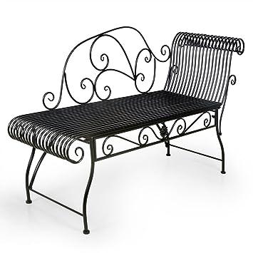 HLC Fauteuil Relax Banc Jardin Salon en Fer Forgé Banquette Relaxant ...
