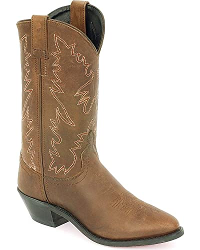 Amazon.com | Old West Women's Distressed Leather Cowgirl Boot ...