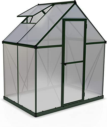 Palram HG5005G Mythos Hobby Greenhouse, 6 x 4 x 7 , Forest Green