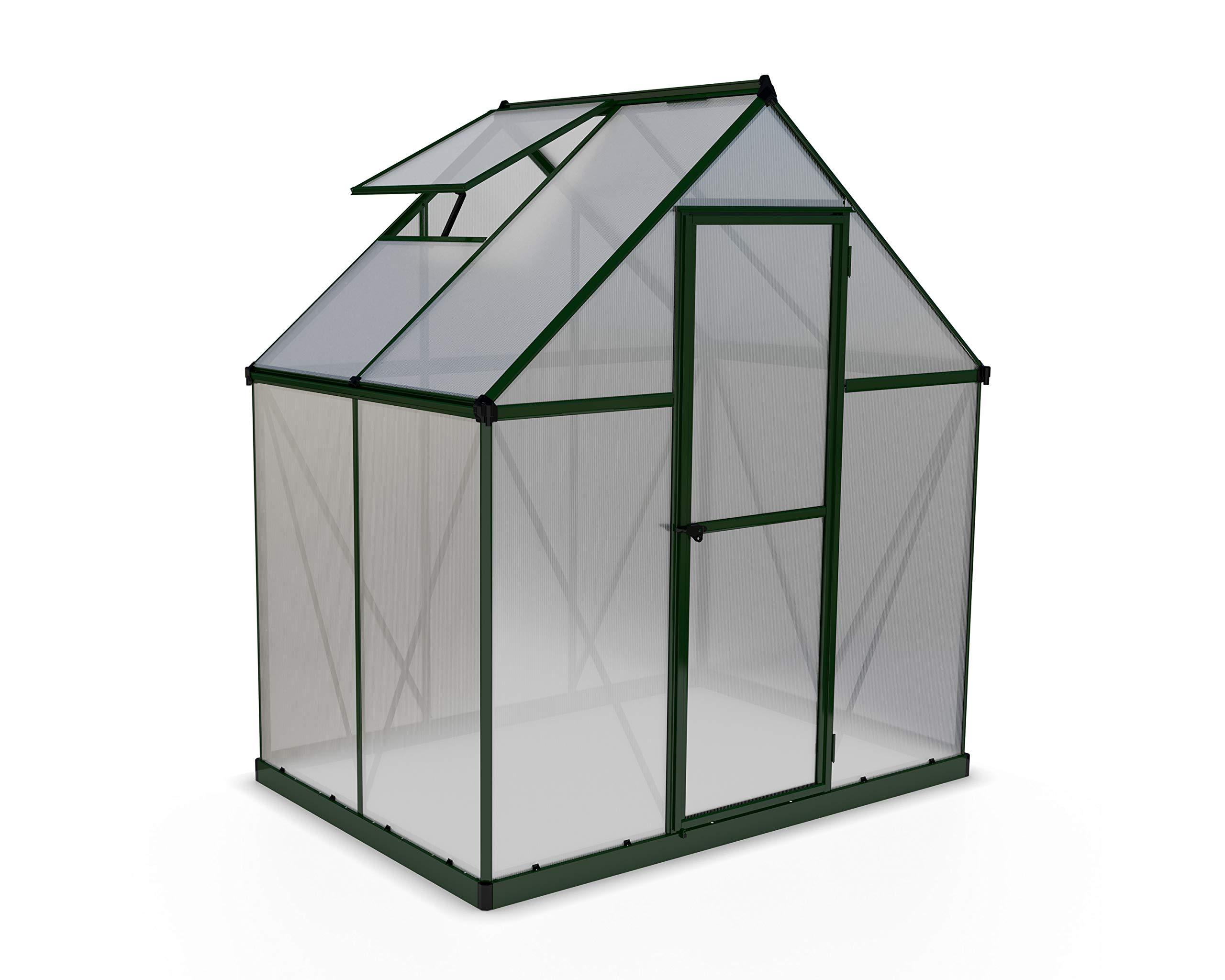 Palram HG5005G Mythos Hobby Greenhouse, 6' x 4' x 7', Forest Green