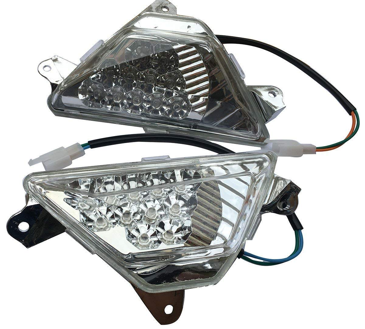 Amazon.com: MotorToGo LED Front Turn Signals Assembly ...