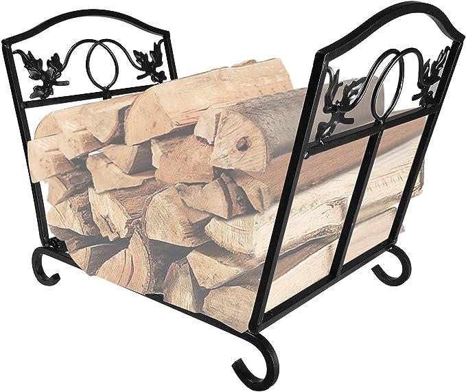 Fireplace Log Holder Wrought Iron Rack