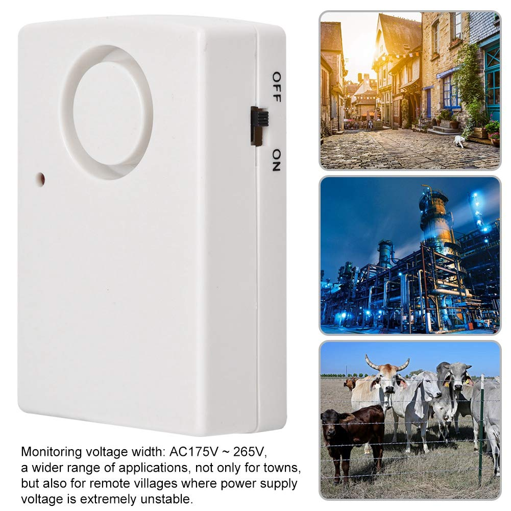 Alarma de fallo de alimentaci/ón inal/ámbrica Alarma de fallo de alimentaci/ón dise/ño Resistente a Alta presi/ón luz indicadora LED de 220 V Detector de Apagado de 120db