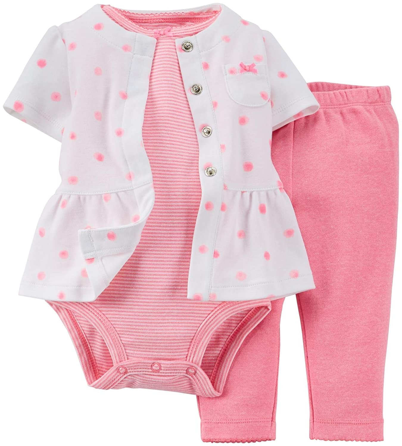 Carters Baby Girls 3-Piece Layette Set