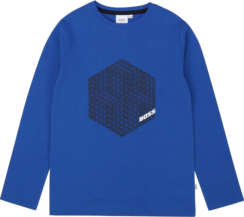 BOSS Camiseta Estampado con Relieve NIÑO Azul ELECTRICO ...