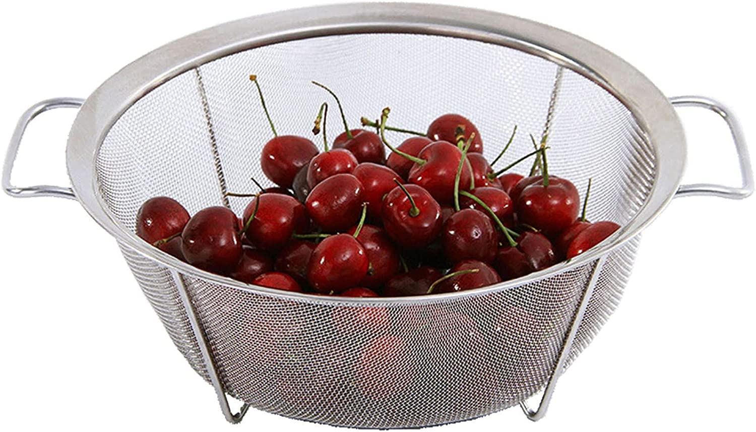 We OFFer at cheap prices AJIODA Stainless Steel Mesh Oklahoma City Mall Colander Basket Strainer Quart 4 Fi