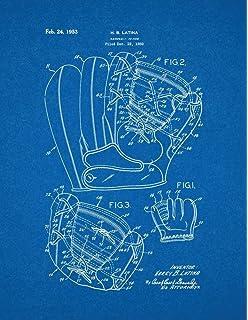 Amazon baseball patent print art poster blueprint 85 x 11 baseball glove patent print art poster blueprint 85 x malvernweather Image collections