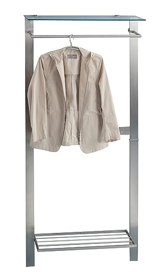 HomeTrends4You 809688 Garderobe, 80 x 190 x 33 cm, Metall ...