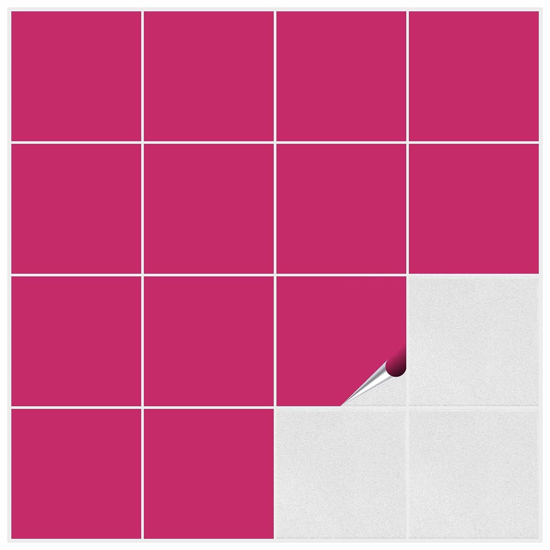 Amazon.de: FoLIESEN Fliesenaufkleber für Bad und Küche - 15x15 cm ...