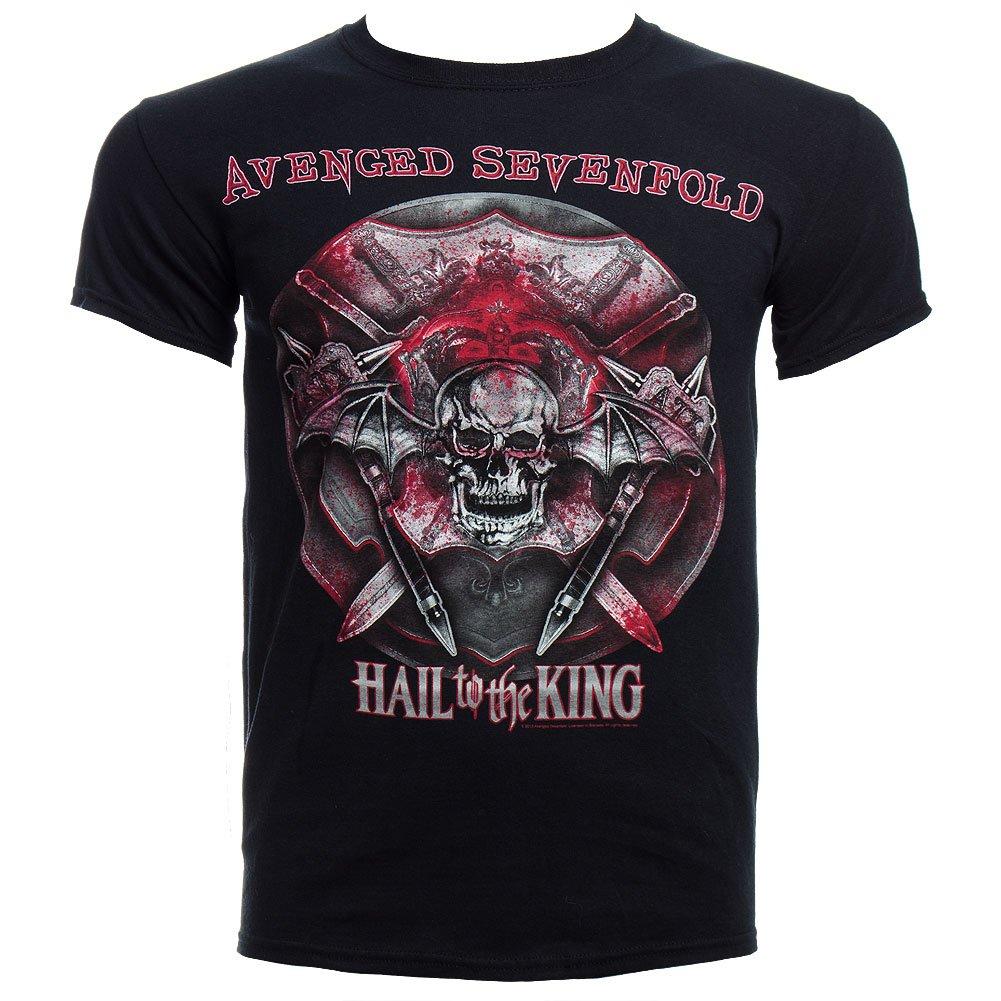 Adult Avenged Sevenfold Battle Armor 2014 Tour Bc Oh Black Shirts