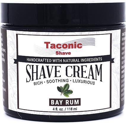 Taconic Shave Bay ron Crema de afeitar, crea una espuma rica y lujosa - 4 Oz