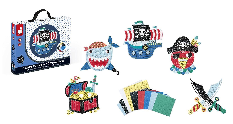 Janod J07760 5 Carte Mosaici Mondo Sottomarino