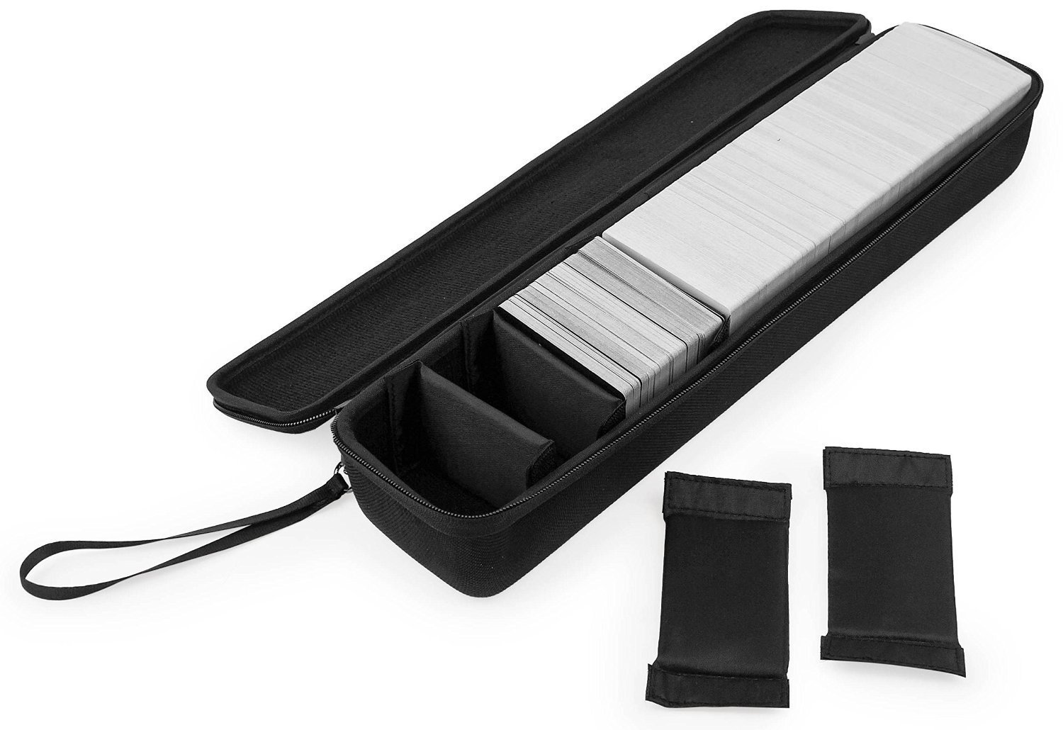 Caseling Extra Large Hard Case for C. A. H. Card Game. Fits the Main Game, All 6 Expansions Plus. Includes 7 Moveable Dividers. Fits up to 1700 Cards. - Card Game Sold Separately. - Black