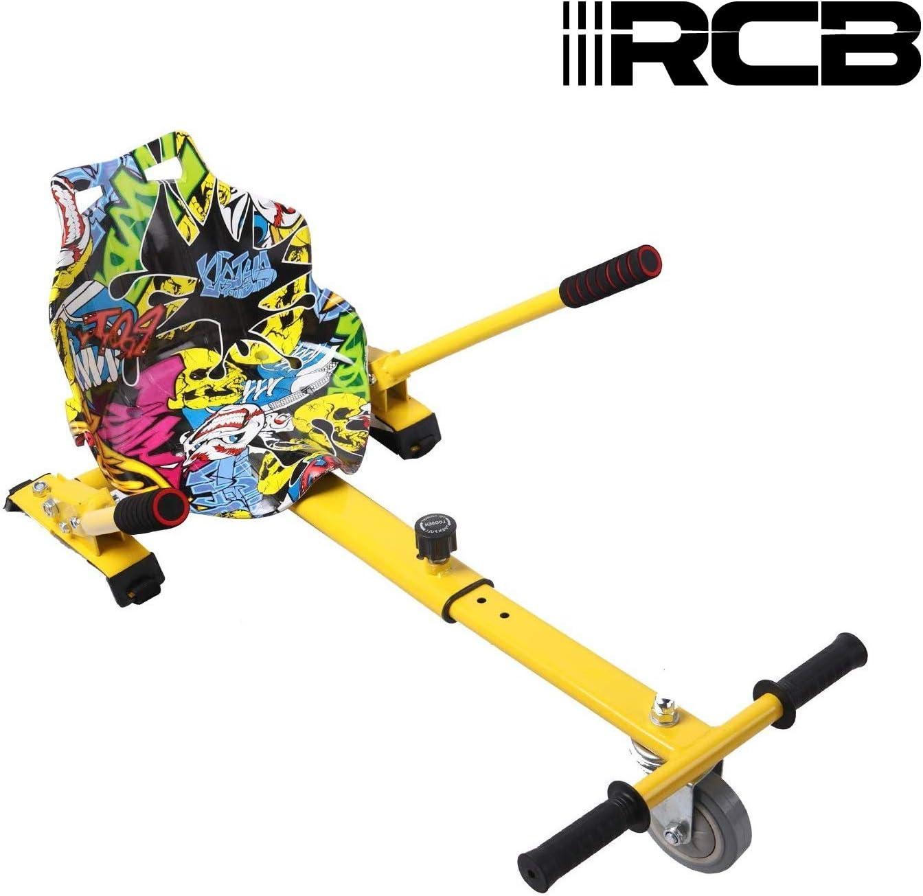 RCB Hoverkart para Patinete eléctrico Asiento Kart para Self Balancing Scooter Longitud Ajustable, Compatible con Todos los patinetes - 6.5/8 / 8.5/10 Pulgadas