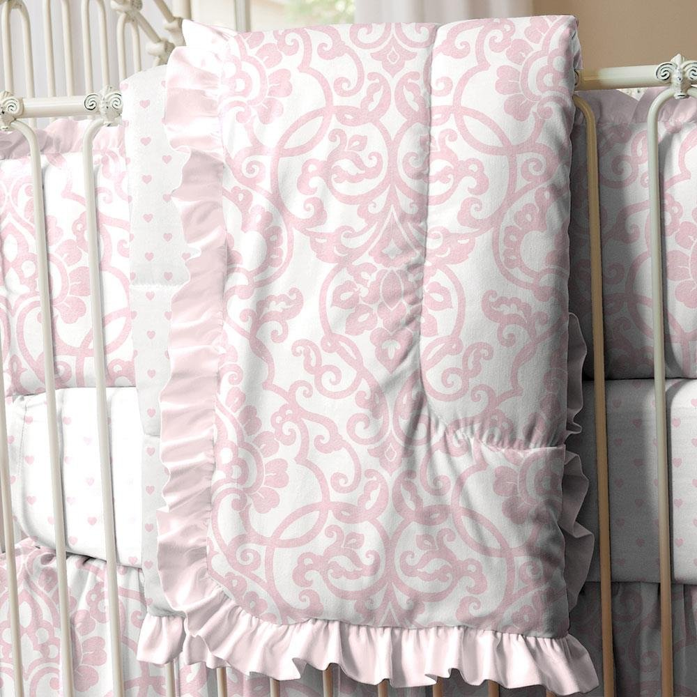 Carousel Designs Pink Filigree Crib Comforter