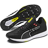PUMA Men's Speed 300 Racer Sneaker, Peacoat White-Blazing Yellow