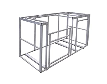 Amazon.com : Cal Flame 6\' Outdoor Kitchen Island Frame Kit : Patio ...