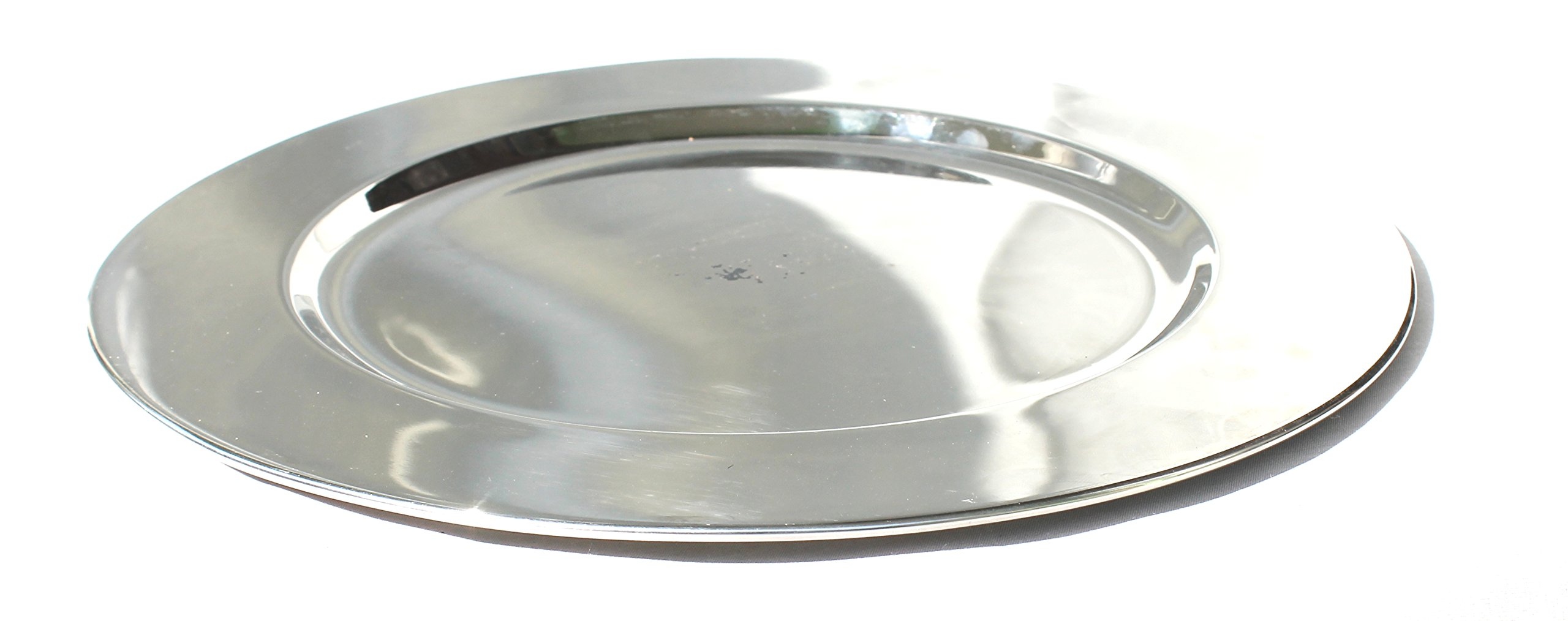 STREET CRAFT Premum Quliaty Stainless Steel Classic Design Round 9''x9'' In Charger Plates with Mirror Finish