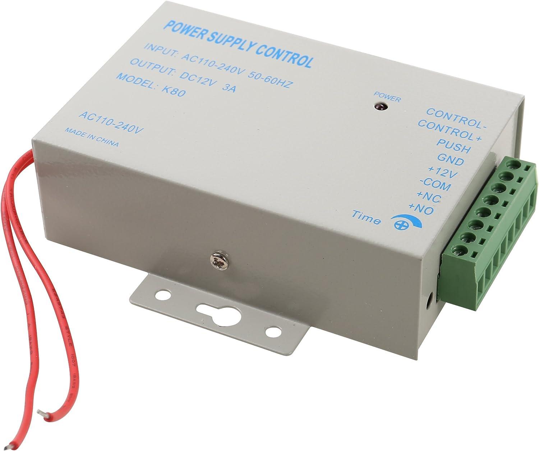 Hwmate AC110 240/V vers DC 12/V 3/A 36/W Interrupteur dalimentation /électrique pour porte de contr/ôle dacc/ès interphone Portier Sonnette interphone