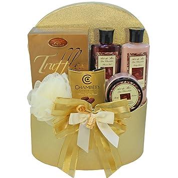 Chocolate Truffle Spa Bath and Body Gift Basket