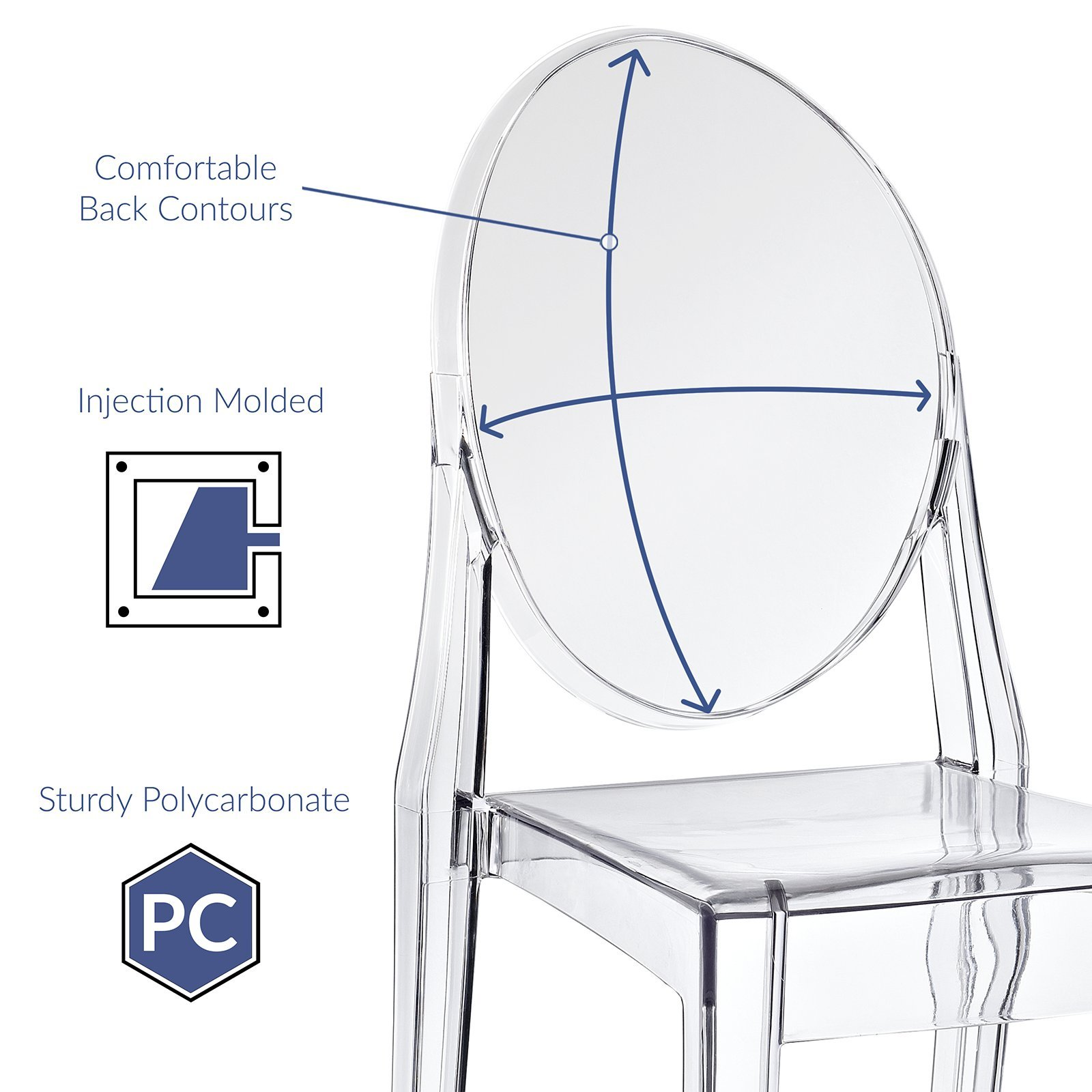 Modway Casper Dining Side Chair in Clear by Modway (Image #5)