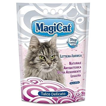 MAGIC CAT Arena para gatos aseo delicada lt talco. 5 - Arena de gatos
