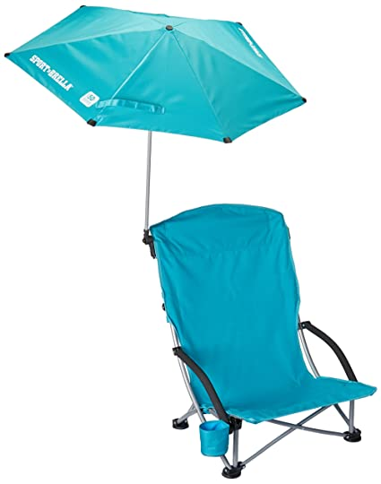 beach chair with umbrella Amazon.: Sport Brella Beach Chair, Aqua : Sun Shelters  beach chair with umbrella